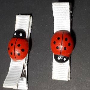 Other - Handmade Kiddie Clips - Lady Bugs